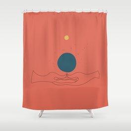 Dhyana mudra Shower Curtain