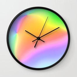Bright Prismatic Rainbow Design! Wall Clock