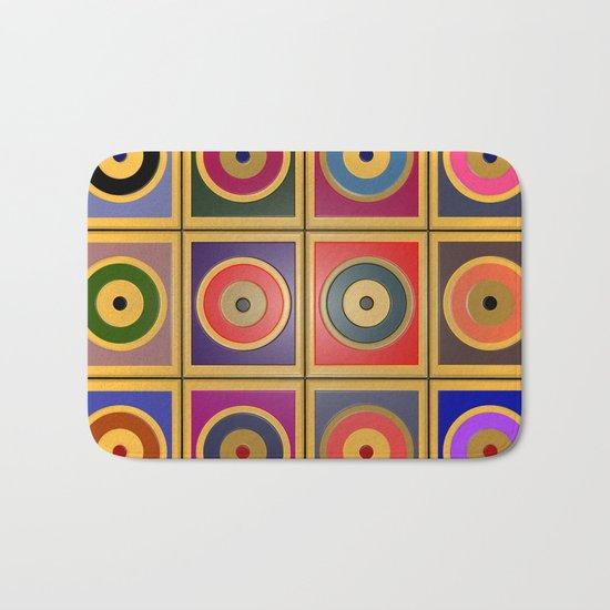 Rectangles & Circles #3 Bath Mat