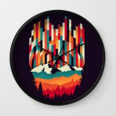 Sunset in Vertical Multicolor Wall Clock
