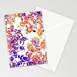 Abstract Purple Mandala Pattern Stationery Cards