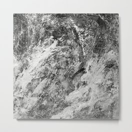 Black And White Tempest Metal Print