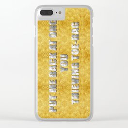 ART THEFT 01 Clear iPhone Case