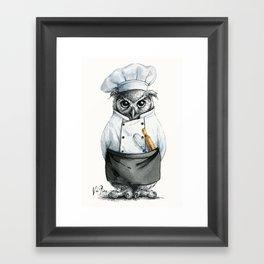 Baker Owl Framed Art Print