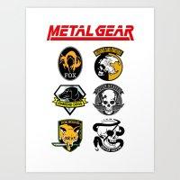 metal gear Art Prints featuring Metal Gear by Khaled