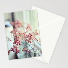 Rose Hips in a Window Still Life Autumn Botanical Stationery Cards