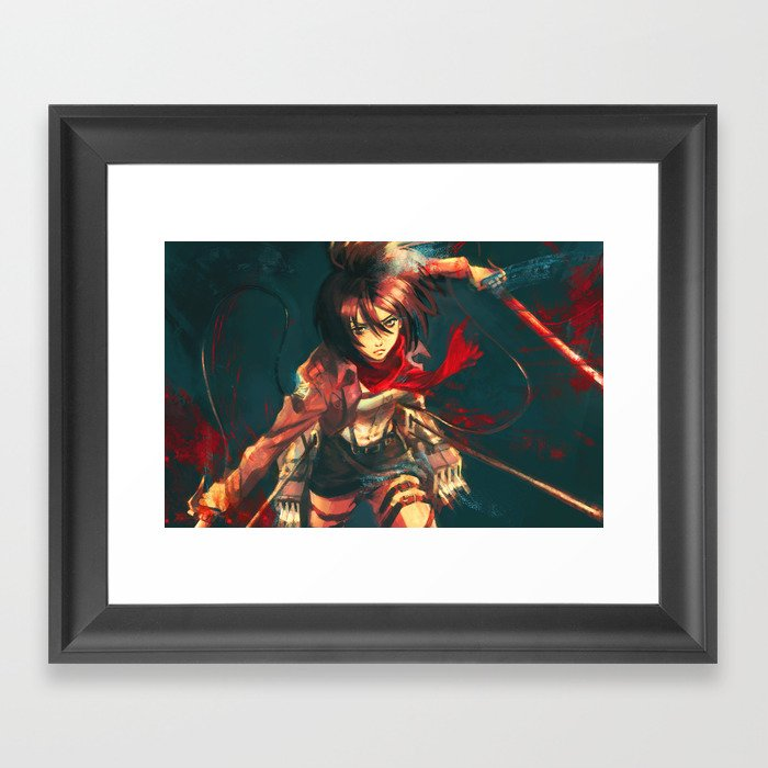 Worth a Hundred Soldiers Framed Art Print