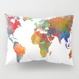 World map watercolor 3 Pillow Sham