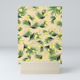 Palm Leaves Lemon Summer Vibes #1 #pastel #tropical #decor #art #society6 Mini Art Print