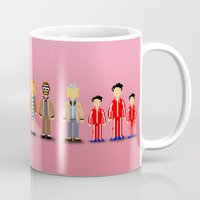 royal tenenbaums Mugs featuring The Royal Pixelbaums by Isabel