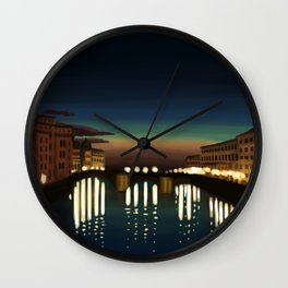 The Arno River Wall Clock
