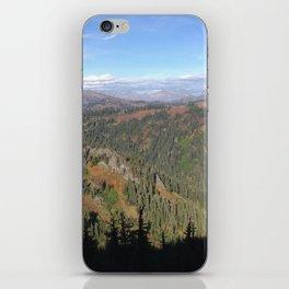 Mountain view shadow trees iPhone Skin