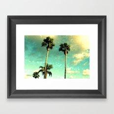 Palm Trees Heart Bokeh Framed Art Print