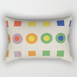Chevreul Laws of Contrast of Colour, Plate VI, 1860, Remake, vintage wash Rectangular Pillow