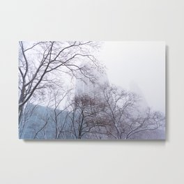 Snow in the Bryant Park Sky, NYC Metal Print