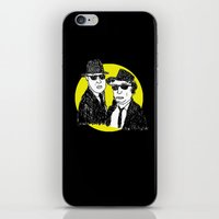 blues brothers iPhone & iPod Skins featuring Blues Brothers by Marco Patiño