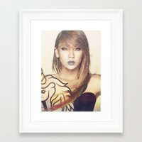 2ne1 Framed Art Prints featuring 2NE1 CL by Margot Park