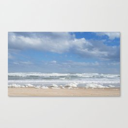 Let the Sea Foam Roll-Ormond Beach, Florida Canvas Print