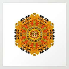 Patterned Sun Art Print