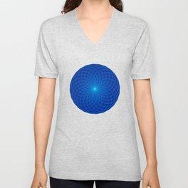 Blue and round Graphic Unisex V-Neck