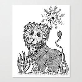 Lion Mandala Canvas Print