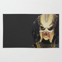 predator Area & Throw Rugs featuring The Predator by Kristen Willsher