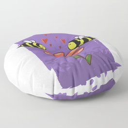 Bee Mine Valentine Floor Pillow