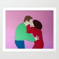 Kiss me, stupid! Art Print