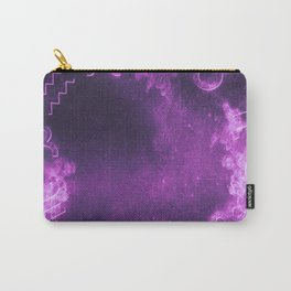 Astrological zodiac signs horoscope circle. Abstract night sky background Carry-All Pouch