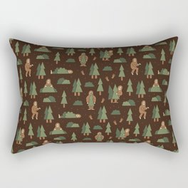 Bigfoot Forest Rectangular Pillow