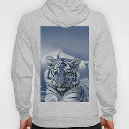 Blue White Tiger Hoody