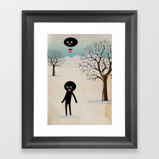 b r r r Framed Art Print