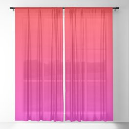 Be My Valentine Ombre Sheer Curtain