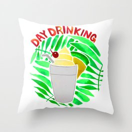 Day Drinking Throw Pillow