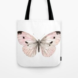 Butterfly flutter - soft peach Tote Bag