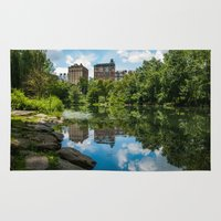 central park Area & Throw Rugs featuring Central Park by hannes cmarits (hannes61)