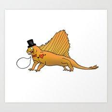 Dino Bros - Lizard Art Print