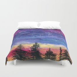 The Zodiac over Sequoia Duvet Cover