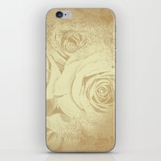 Roses in vintage style with texture iPhone Skin