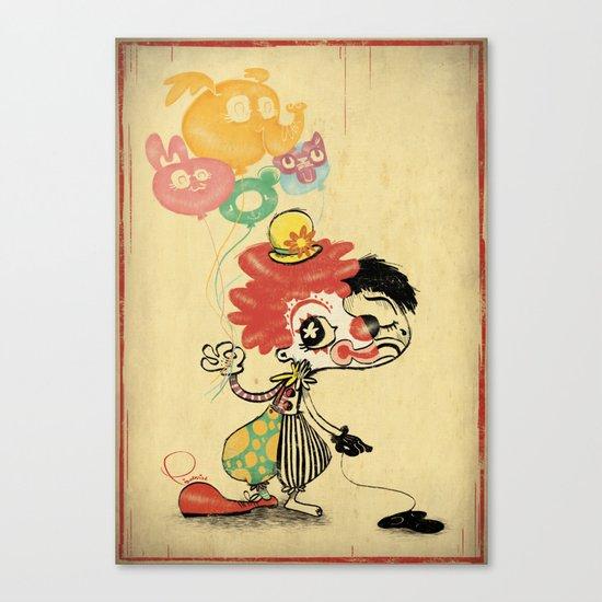 The Clown / Balloons / Facade Canvas Print