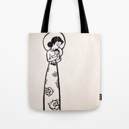 Madonna and Child as Vietnamese (yellowed effect) Tote Bag