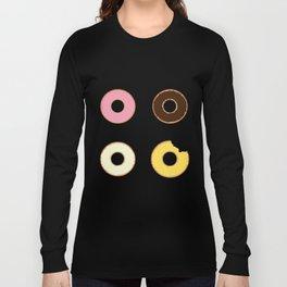 Four Doughnuts (Bitten version) Long Sleeve T-shirt