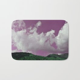 emerald hills purple skies Bath Mat