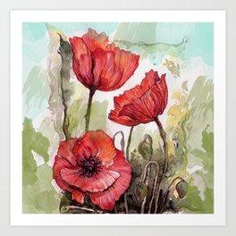 Red poppies 3 Kunstdrucke