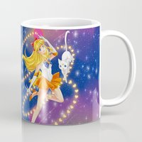 sailor venus Mugs featuring Sailor Venus  by Moonsia