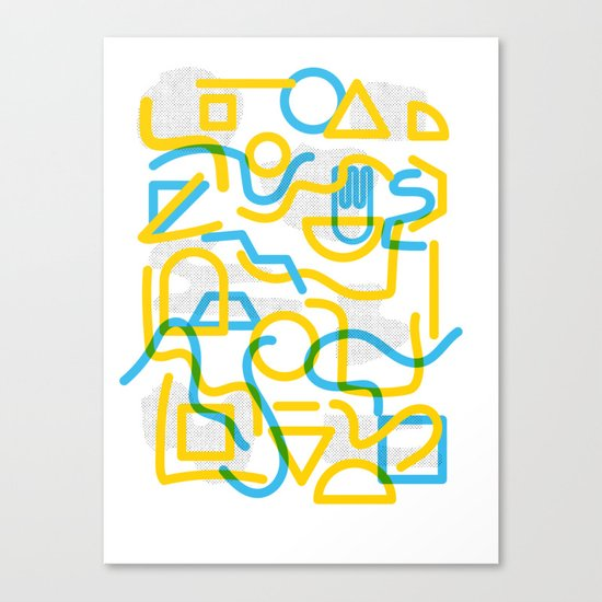 Shapes and Stuff Canvas Print