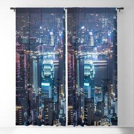 Hong Kong Skyline Blackout Curtain