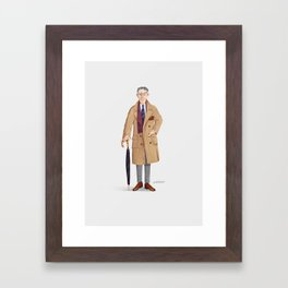 mr. Gray Framed Art Print