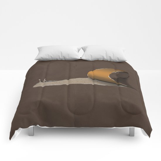 snail brown Comforters