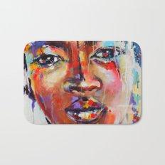 Closer - portrait of a beautiful woman Bath Mat